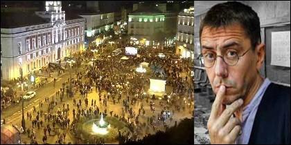 Estrepitoso fracaso de la manifestación convocada por Monedero (PODEMOS) para protestar contra la oposición 27/10/2018.