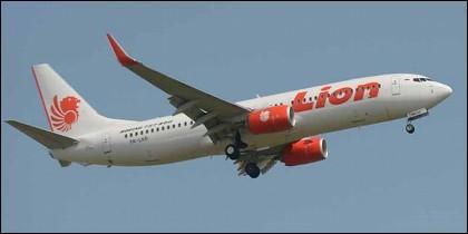 Un avión de la compañia Lion Air.