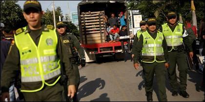 Policias colombianos