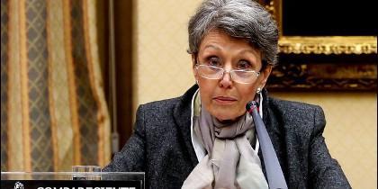 Rosa María Mateo, en la Comisión de control.