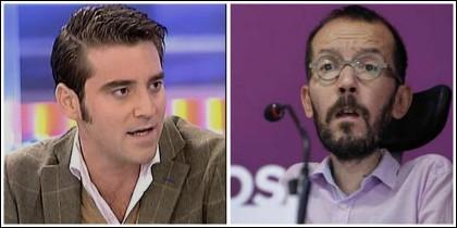 Javier Negre y Pablo Echenique.