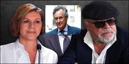 María Dolores Cospedal, Ignacio López del Hierro y el comisario Villarejo.