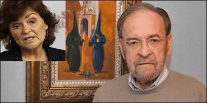 Carmen Calvo (PSOE) y Antonio Burgos (ABC).