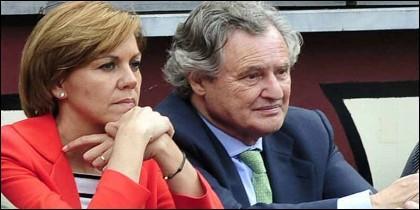 María Dolores Cospedal y su marido  Ignacio López del Hierro.