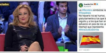 Elisa Beni y el tuit de la Guardia Civil.