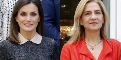 La reina Letizia y la infanta Cristina
