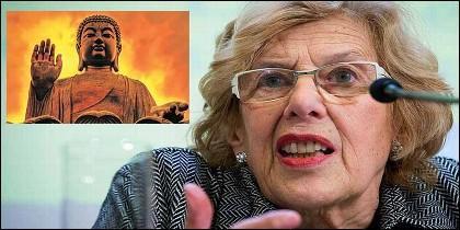 Manuela Carmena y el budismo en Madrid.