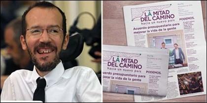 Pablo Echenique y el periódico de la vergüenza de Podemos.