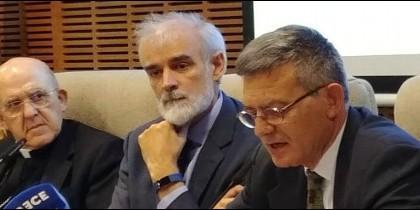Carlos Osoro, Julio Martínez y Paolo Ruffini