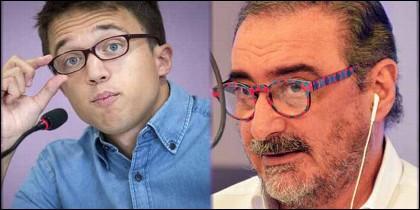 Iñigo Errejón (PODEMOS) y Carlos Herrera (COPE).