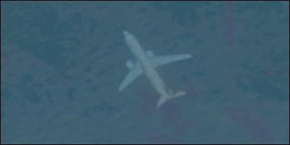 Avión sumergido