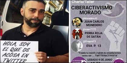 Rubén Sánchez, en su papel de 'Facuo'; y una charla organizada por Podemos para controlar las redes.