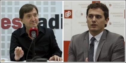 Federico Jiménez Losantos y Albert Rivera.