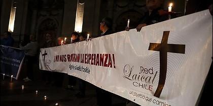 Protesta contra los abusos sexuales cometidos en el seno de la Iglesia católica chilena