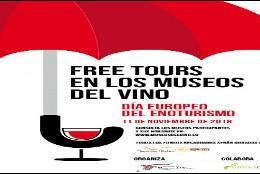 Cartel anunciador de la actividad propuesta por museos del vino