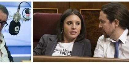 Caros Herrera, Irene Montero y Pablo Iglesias.
