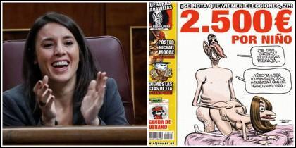 Irene Montero y la portada de El Jueves.