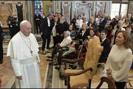 Audiencia del Papa con los 'Alumnos del Cielo'