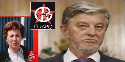La asesina del GRAPO Carmen López Anguita y Pedro Santisteve, alcalde de Zaragoza por Podemos.
