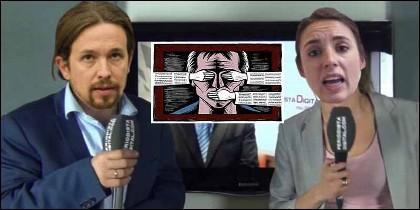 Pablo Iglesias, Irene Montero y la afición a la censura en Podemos.