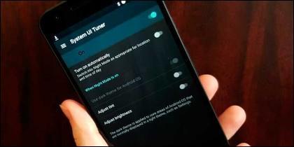 Smartphone modo oscuro