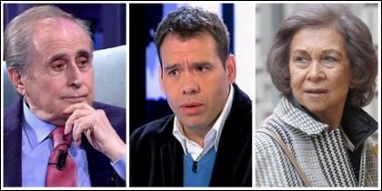 Jaime Peñafiel, Rubén Amón y la Reina Sofía.