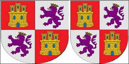 Los escudos de los reinos de Castilla y de León.