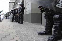 Los cuerpos de seguridad en Medellín.