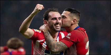 Godín y Vitolo (Atlético de Madrid).