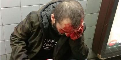 El agredido en el metro de Barcelona por llevar una bandera de España