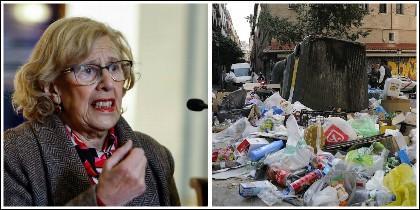 La basura invade las calles de Madrid
