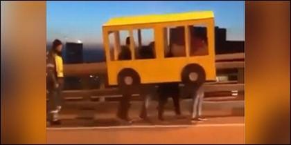 Disfraz de autobus