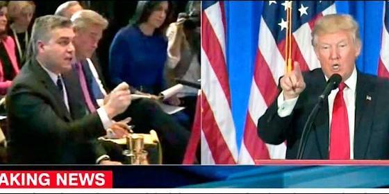 Trump y Jim Acosta de la CNN