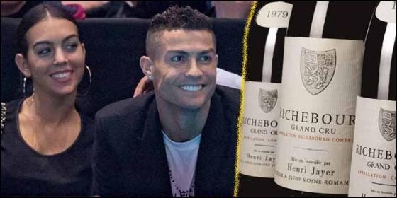 Cristiano Ronaldo y Georgina con vinos de alta calidad.