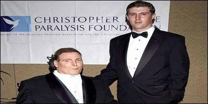 Cristopher Reeve con su hijo Matthew.