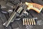 Revolver con su munición