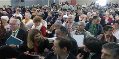 Algunos de los religiosos españoles reunidos en la Asamblea de la CONFER