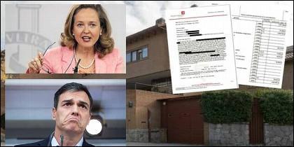 Nadia Calviño, Pedro Sánchez y el casoplón.