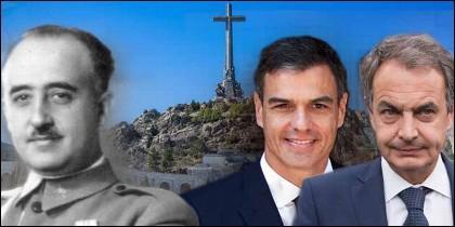 Franco, el Valle de los Caídos, Zapatero y Pedro Sánchez.