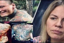 Cheryl Wenzel y los tatuajes de su difunto marido.