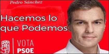 Pedro Sánchez (PSOE) en manos de Podemos.