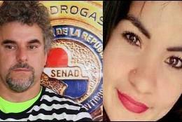 Marcelo alias 'Piloto' y la mujer que asesinó a puñaladas en la carcel de Paraguay.