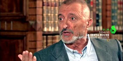 La entrevista a Pérez-Reverte en laSexta Noche