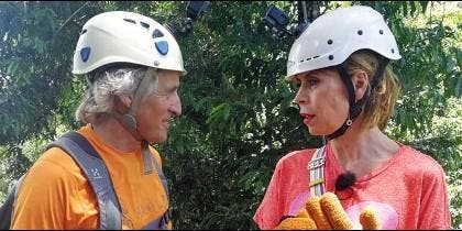Ágatha Ruiz de la Prada con Jesús Calleja  (Cuatro)