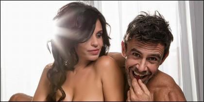 Alonso Caparrós y su pareja, Angélica Delgado