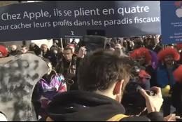 Protesta en París contra la apertura de una tienda Apple