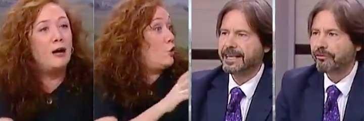 Cristina Fallarás y Ricardo Martín, en Telemadrid.