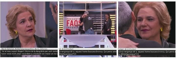 Pilar Rahola bendice a Roger Español en TV3.