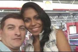 César Roman, 'El Rey del cachopo', junto a su novia Heidi, que apareció descuartizada en una maleta.