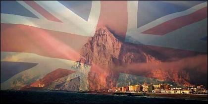 Gibraltar, la Unión Jack y el Reino Unido.